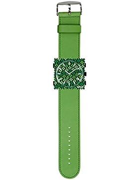 S.T.A.M.P.S. Stamps Uhr KOMPLETT - Zifferblatt St.Patrick mit Lederarmband grün