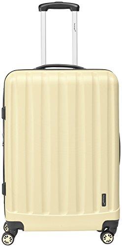 Packenger Kofferset - Velvet - 3-teilig (M, L & XL), Cafe-au-Lait, 4 Rollen, Koffer mit TSA- Schloss und Erweiterungsfach, Hartschalenkoffer (ABS) - 3