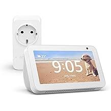 Echo Show 5 (Bianco) +Amazon Smart Plug (presa intelligente con connettività Wi-Fi), compatibile con Alexa