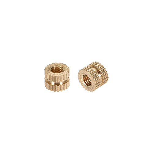 Thread Insert Kit (ZCHXD Knurled Insert Nuts, M3 x 4mm(L) x 5mm(OD) Female Thread Brass Embedment Assortment Kit, 100 Pcs)