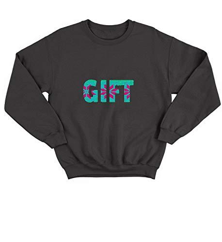 LumaCrewnecks Christmas Knit Gift Traditions_008476 Cute Funny Sweater Sweatshirt Pullover Present - SM Black Crewneck