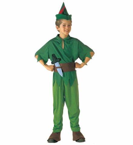 Süßes Peter Pan Kostüm! 4 Teile! Nimmerland 5-7 Jahre
