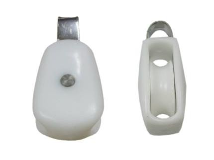 Nylon & Stainless Steel 316 Rope Pulley Block Sailing Block Suit 8mm rope 1