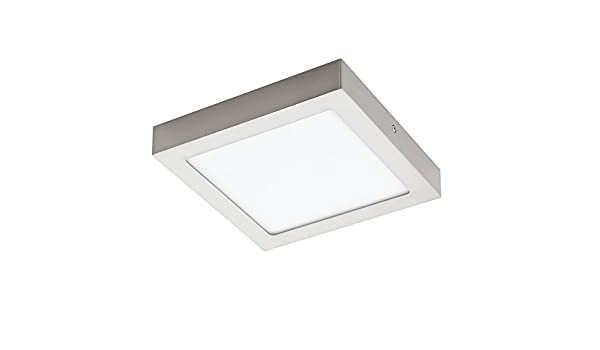 Plafoniera Led Eglo Prezzo : Led dl 300x300 nickel 4000k  fueva 1 : amazon.it: illuminazione