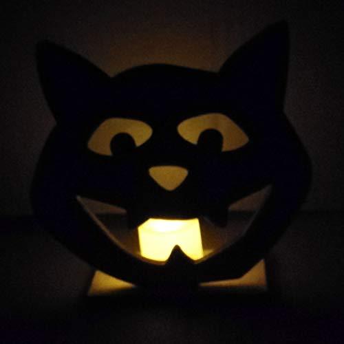 Kürbis Schnitzen Katze - YWLINK Halloween KüRbis Skelett Katze HöLzerne