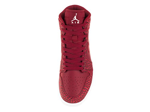 Nike Damen Air Jordan Vintage Freizeit Oldschool Basketballschuh Rot (Gym Red / White-Team Red-White)
