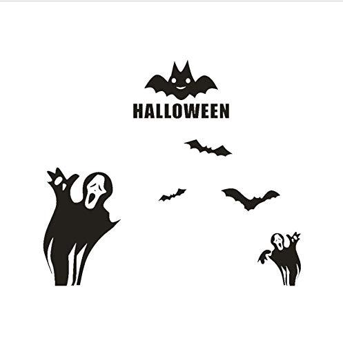 LONGTENGHEIHA Happy Halloween Bats Wandaufkleber Fenster Dekoration 2017 Neue DIY Wandaufkleber Dekoration Aufkleber