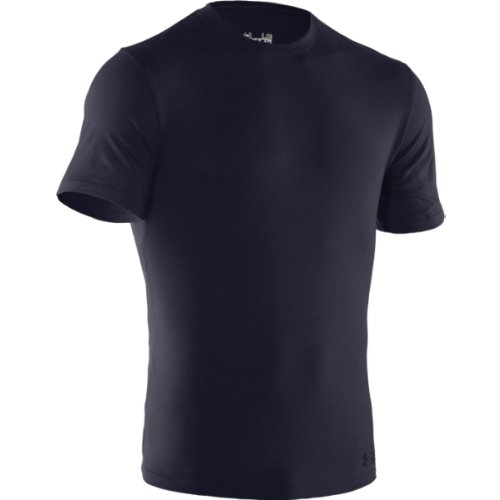 Blau Kurzarm-tactical Shirt (Under Armour Herren Charged Cotton Tactical kurzarm T-Shirt, schwarz, Größe L 3XL Dark Navy Blue/None)