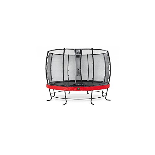 EXIT Trampolin Elegant Premium Ø 366 cm rot mit Netz Deluxe 08.20.12.80