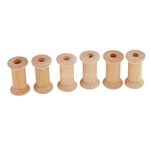 rnspule Holzspule Dekospule Spule Nähmaschinenspule - Holz, 30 x 22 mm ()