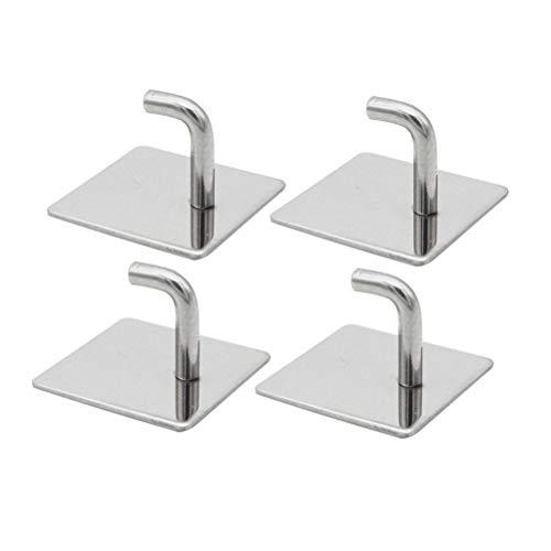 4 Stück Badezimmer Handtuchhalter (TOPBATHY Haken Edelstahl Klebstoff Quadratischen Spiegel Haken für Schlafzimmer Wohnzimmer Badezimmer Küche 4 Stück)