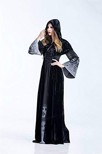 WEII Halloween Cosplay Damen Black Demon Kostüm Hexe Kostüm Halloween Party Kostüm,Bild,XXL (Hexen Kostüm Bilder)