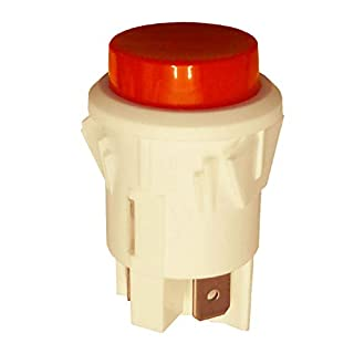 Large Momentary DPST Push Button Switch White, Red 16A 250VAC
