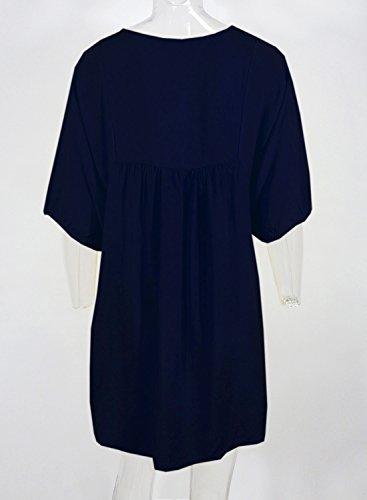 Futurino - Robe - Tunique - Femme Taille Unique Bleu Marine