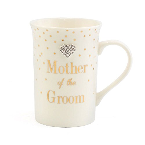 Mother of the Groom Fine China Mug. Besonderes Andenken Geschenk. Mad Dots Range -