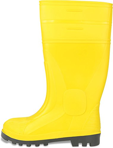 Baustiefel S5 Gummistiefel mit Zehenschutz, EN ISO 20345 Gelb Gr. 38-48 Gelb