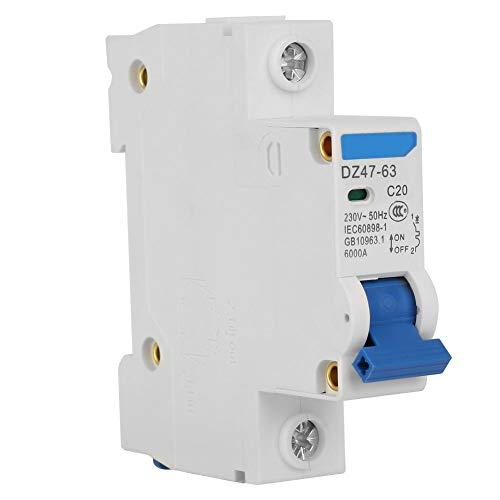 Leitungsschutzschalter, 1P Leitungsschutzschalter für Kleinstromerzeugungssystem DZ47-63 230V(20A) Ideal Circuit Tracer