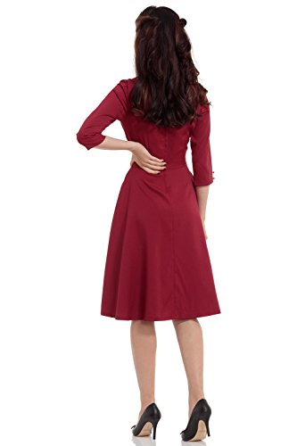 Voodoo Vixen Kleid LAURA DRESS 8226 Burgundy