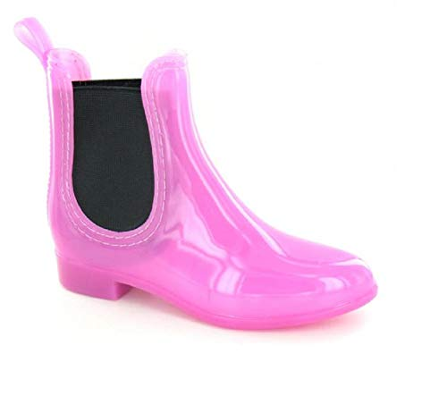 GladRags Girls Wellington Ankle Boots PVC Chelsea Dealer Style Twin Gusset Size 10 11 12 13 1 2 Infant - Junior UK