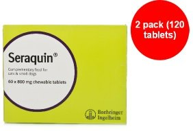 Seraquin 800mg Nutritional Joint Supplement for Small Dogs and Cats