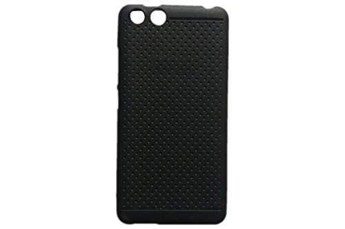 KANICT Exclusive Dotted Matte Finished Soft Rubbersied Back Case Cover For Panasonic P55 Novo - Black