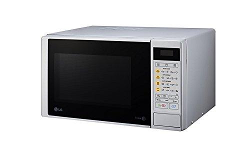 LG MH6042DS - Horno microondas con grill, color: plateado (potencia: 700 W, capacidad: 19 litros)