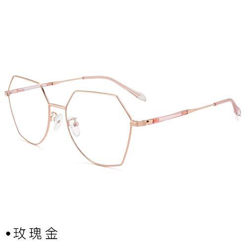 CFLFDC Sonnenbrillen Myopia Glasses Frame Glasses Frauen Net Rot Vegetarisch Yen Xian Gesicht Dünn Mit Myopie-spiegel-rahmen Mann 1,74 (ultradünn) Pink Gold
