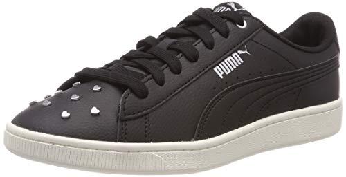 Puma Vikky v2 Studs, Scarpe da Ginnastica Basse Donna, Nero Black Silver-Whisper White, 38.5 EU
