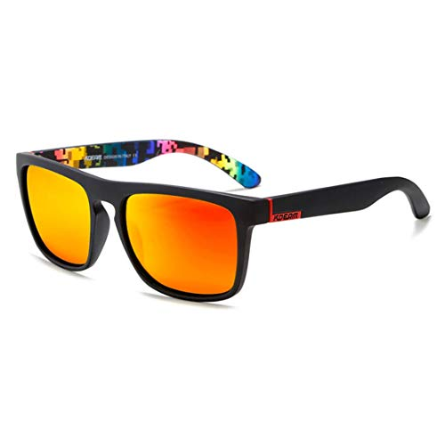 Generic No13, polarisiert mit Fall: Hoch empfohlen kdeam Spiegel Polarisierte Sonnenbrille Herren Surfen Sport Sun Glasses Frauen UV-Brillen de Sol mit Peanut Fall KD156