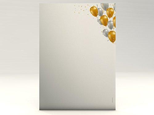 Motivpapier Alles Gute Geburtstag Glückwunsch Einladung, 100 Blatt Motivpapier DIN A4, 90g/qm