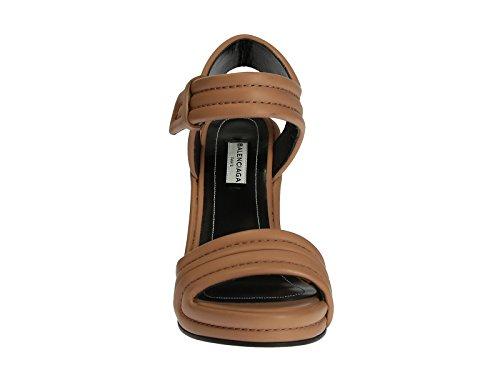 Sandales compensées Balenciaga en cuir couleur peau - Code modèle: 410949 WAVI0 2702 Cuir