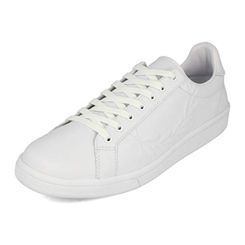 Fred Perry B721 Embossed Laurel Leather White 45