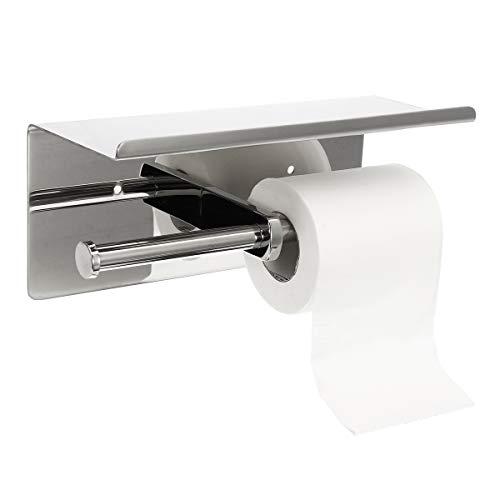RanDal Doppelte Toilettenpapierhalter 304 Edelstahl Bad Roll Tissue Roller Halter Wand Lagerregal Rack