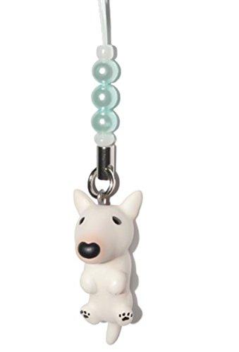 Bull Terrier [ PetLovers ] 92 Hunde Kawaii süßer Anhänger für Mobiltelefon und Mediageräte [Blue beads] DN-3902