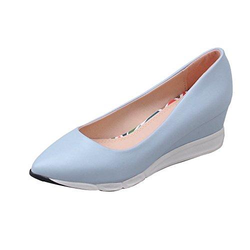 65849942912a Mee Shoes Damen speziell simpel Keilabsatz Geschlossen spitz Plateau Pumps  Freizeitschuhe Blau