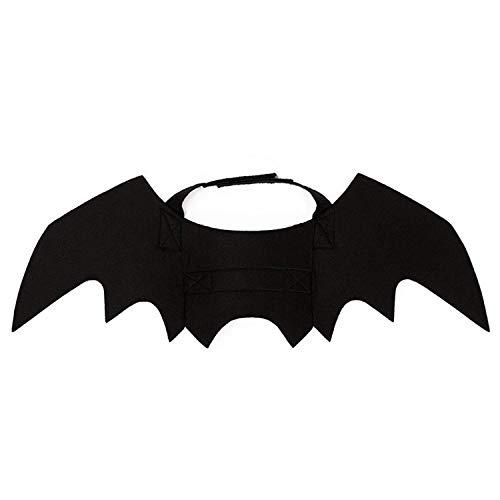 Fledermausflügel Kragen Katze Hund Cosplay Maskerade Party Bat Kostüm liefert (Color : -, Size : -) ()