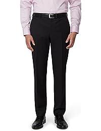 DKNY Men`s Slim Fit Black Suit Trousers