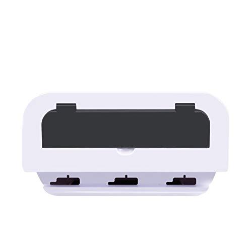 Preisvergleich Produktbild JIEJIEZ USB-Hub der Aufbewahrungsbox,  Erweiterungsbox für ABS-Kabelmanagement,  27 * 13 * 13 cm 4P (Farbe : Weiß)