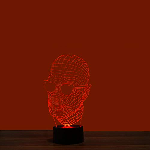 3D Illusion Lampe LED Nachtlicht 7 Farben Brille Mann Touch Blinken Tisch lampen Acryl Platte& ABS Base Kinder Schlafzimmer Geburtstag Geschenke