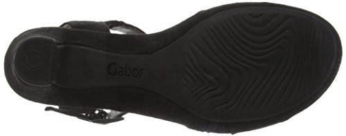 Gabor Abe, Sandales Plateforme femme Noir (17 schwarz Strass)