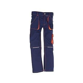 Planam Junior Bundhose, bleumarine/orange, 98/104