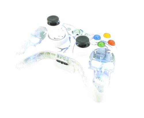 Manette Pour Xbox 360 Personnalisée - WHITE LIGHT SKULL