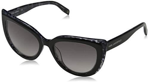 Karl Lagerfeld Damen KL906S 126 53 Sonnenbrille, Black/Grey Marble,