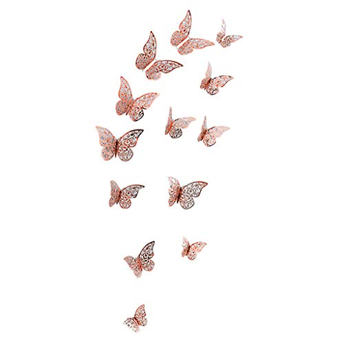 Barock-cocktail (Huaya 3D DIY Wand Aufkleber Schmetterling Dekoration Zuhause Zimmer Kunst 12PCS)