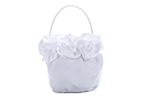 Frühlings-SALE! Brauttasche Abendtasche festliche Tasche Weiß/Weiß