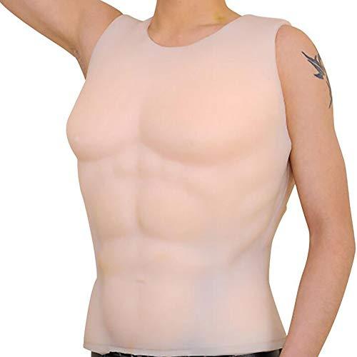 Gefälschte Muskel Requisiten Brust Silikon Muskelshirt Kostüm Slim Fit Silikon Cosplay Transsexuelle Verklärung Muskulös Mann Maskerade Halloween