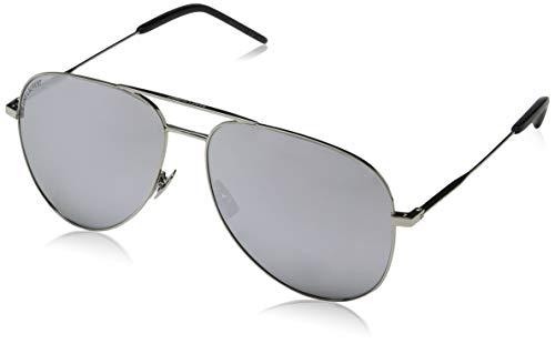 Saint Laurent Unisex-Erwachsene CLASSIC 11 011 Sonnenbrille, Silber Silver, 59