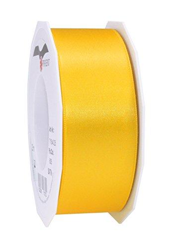Prasent Satinband, doppelseitig, 40mm x 25m, gelb