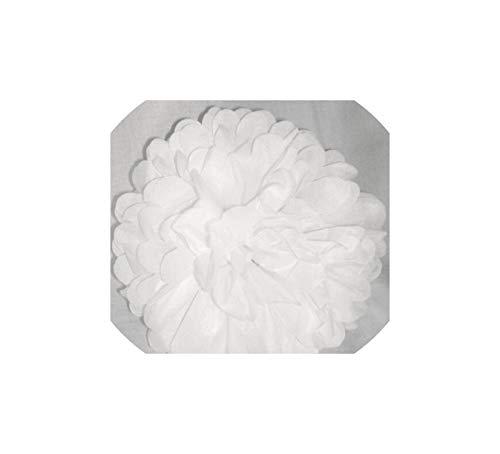 Hochzeit Dekoration Pom Pom Seidenpapier Pompom-Ball-Party Supplies Baby Shower Geburtstag, weiß, 6inch 15cm - Blume-bett-satz