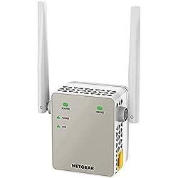 NETGEAR Répéteur Wifi EX6120 (Amplificateur Wifi) AC1200 Dual Band, Supprimez les Zones Mortes, Jusqu'à 120m2 et 20 Appareils, Boost et Répète le Signal Jusqu'à 1200 Mbps, Format Prise Murale Compact